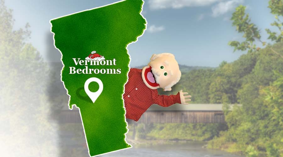Vermont Bedrooms Delivery Area Map